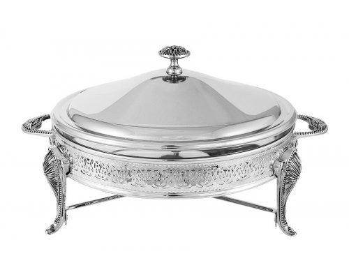 Блюдо с подогревом Британи Regent, круглое с крышкой