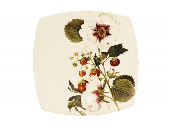 Тарелка обеденная Земляничная поляна Ceramiche Viva