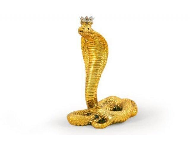 Статуэтка Gamma Королевская кобра(золото)