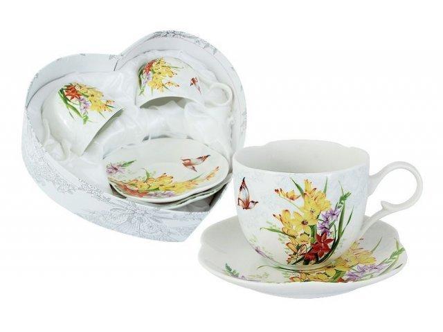 Набор: 2 чашки + 2 блюдца Лилии Colombo