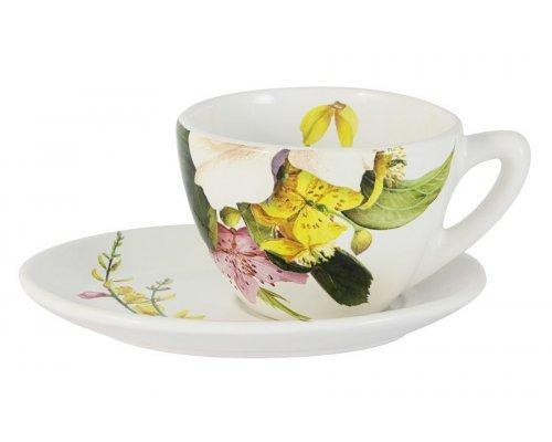 Чашка с блюдцем Фреско Ceramiche Viva