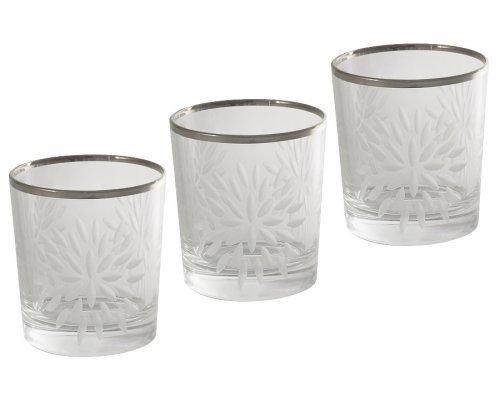 Набор: 6 хрустальных стаканов для виски Same Умбрия Матовая - платина