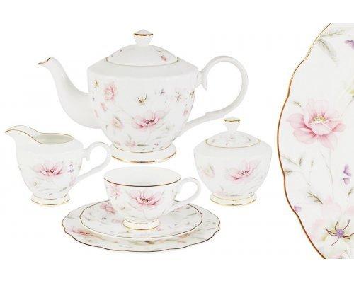 Чайный сервиз Розовый танец Emily 21 предмет на 6 персон