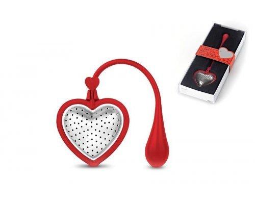Ситечко для заваривания чая Adhoc TEA HEART RED, красный