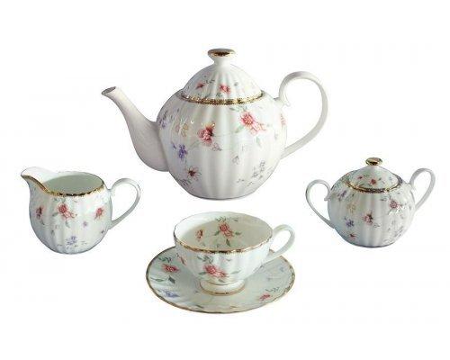 Чайный сервиз из 15 предметов на 6 персон Флёр Colombo