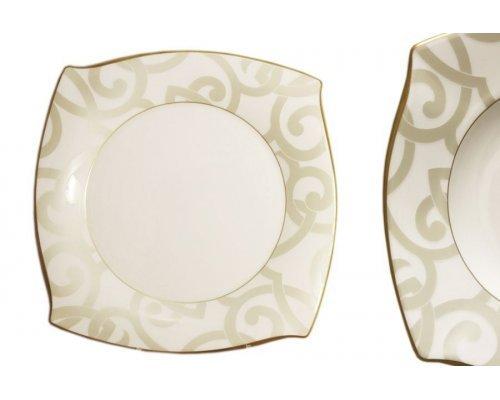 Набор из 6 обеденных тарелок Narumi Грегори (Gregory Gold)