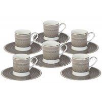 Кофейный набор Мокко Naomi: 6 чашек + 6 блюдец