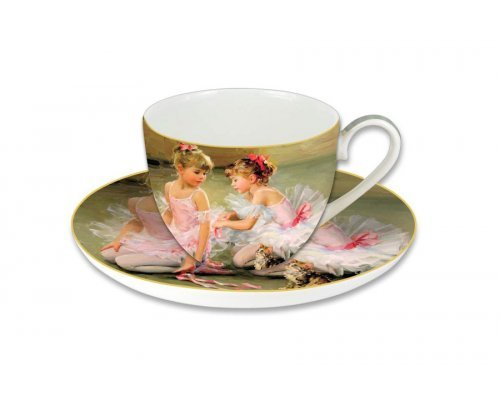Чашка с блюдцем Carmani Балерины, в подарочной упаковке