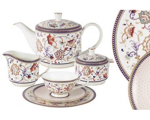 Чайный сервиз Emily Королева Анна 21 предмет на 6 персон