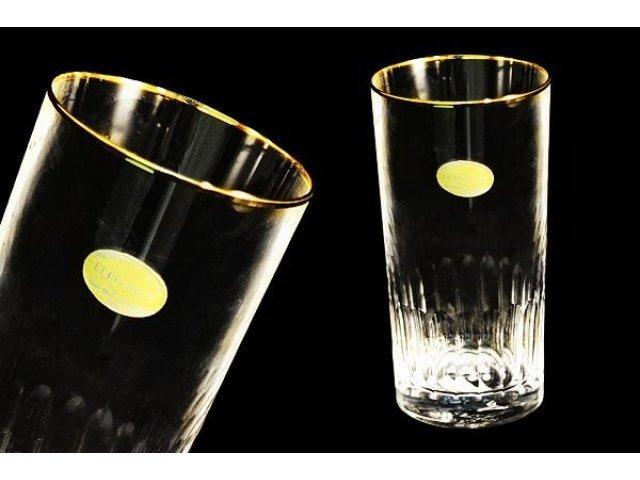 Same Набор: 6 хрустальных стаканов для воды Палаццо золото