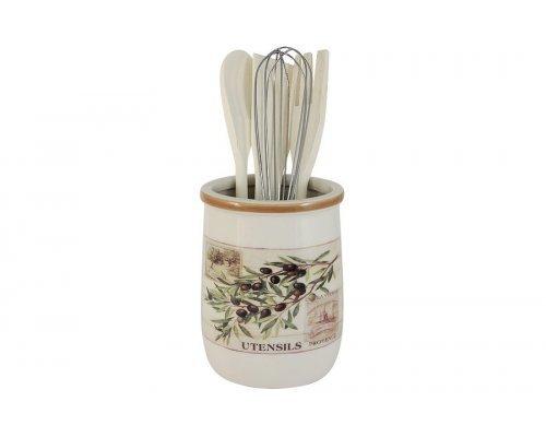 Банка-подставка с кухонными инструментами Оливки LF Ceramic