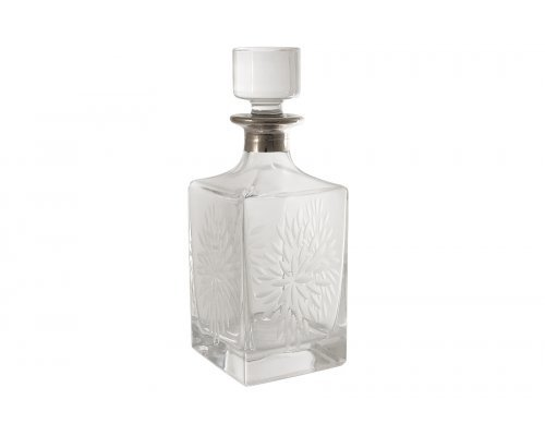 Штоф хрустальный для виски Same Умбрия Матовая - платина