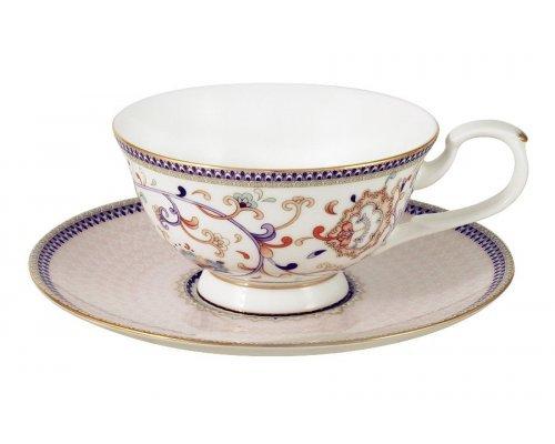 Чашка с блюдцем Emily Королева Анна