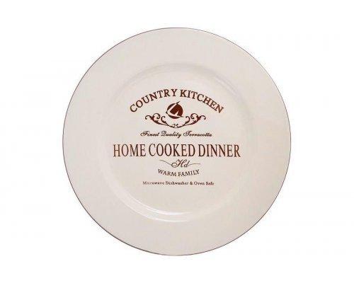 Обеденная тарелка Кухня в стиле Кантри Terracotta