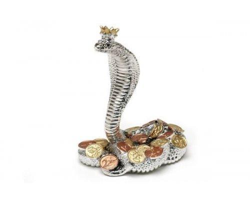 Статуэтка Gamma Королевская кобра (серебр) с монетами