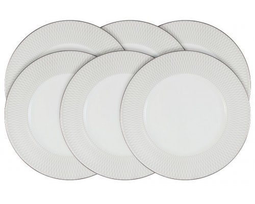 Набор из 6 обеденных тарелок Narumi Бриз (Ruffle)