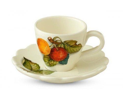 Чашка с блюдцем Итальянские фрукты Nuova Cer