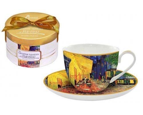 Чашка с блюдцем Carmani Ночная терраса кафе (Ван Гог)
