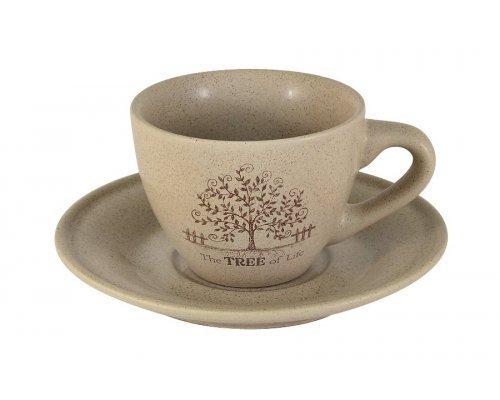 Чашка с блюдцем Дерево жизни Terracotta
