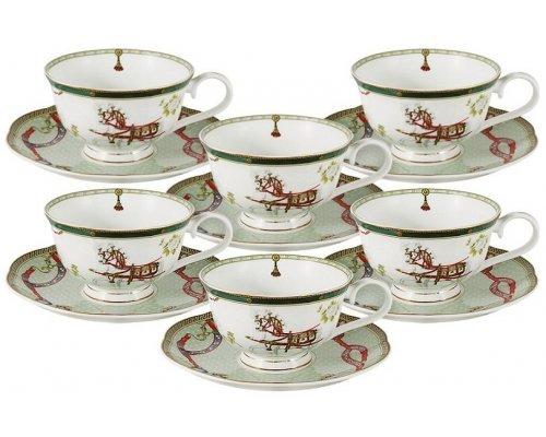 Набор 12 предметов Emily Эдинбург : 6 чашек + 6 блюдец