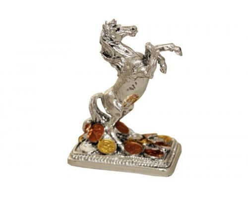 Статуэтка Gamma Лошадь с монетами (серебро)