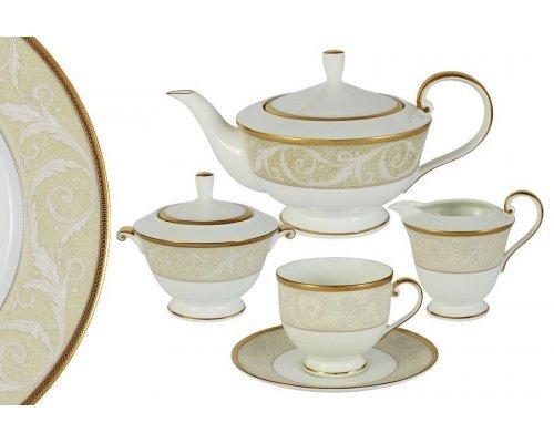 Чайный сервиз из 17 предметов на 6 персон Ноктюрн Narumi Голд