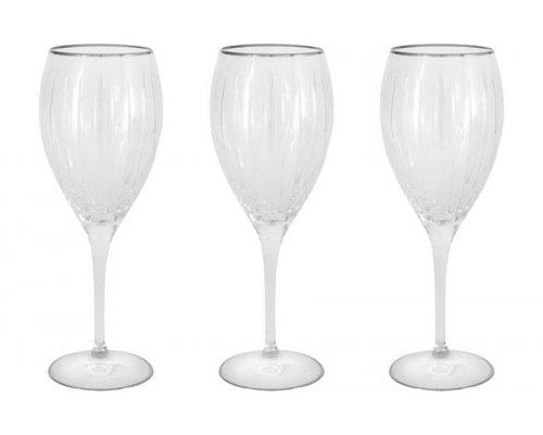 Набор: 6 хрустальных бокалов для вина Пиза серебро Same