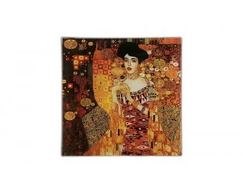 Тарелка квадратная Carmani Золотая Адель (Г.Климт)