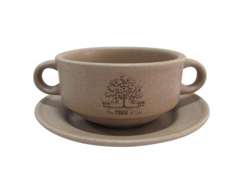Суповая чашка на блюдце Дерево жизни Terracotta