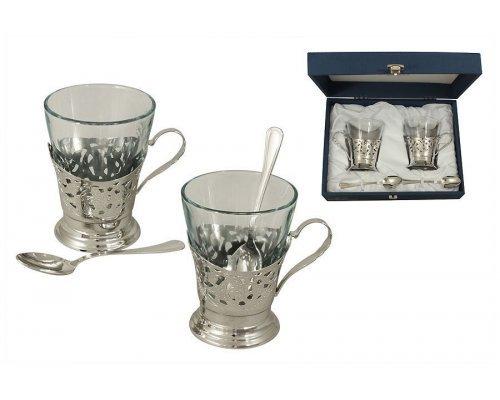 Набор для чая на 2 персоны Gamma Del Treno (silver)