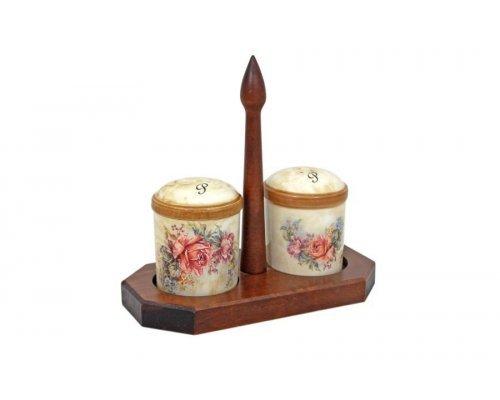 Набор для специй на деревянной подставке Элианто LCS