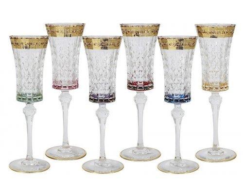 Набор: 6 бокалов для шампанского Same Цветная Флоренция