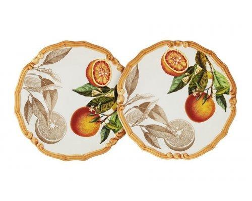 Набор из 2-х десертных тарелок Апельсины LCS