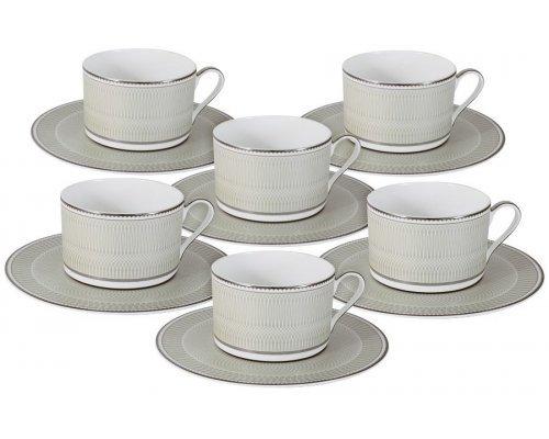 Чайный набор Naomi Маренго: 6 чашек + 6 блюдец