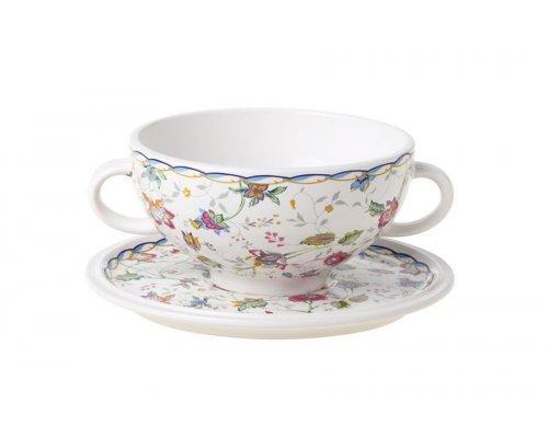Суповая чашка на блюдце Букингем IMARI