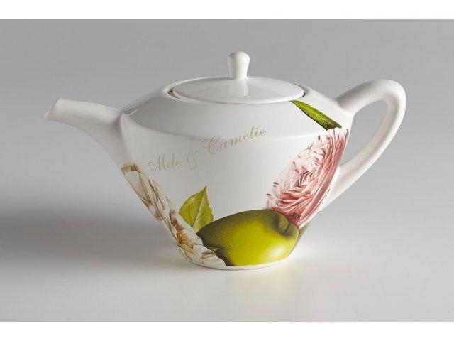 Чайник Яблоки и камелии Ceramiche Viva