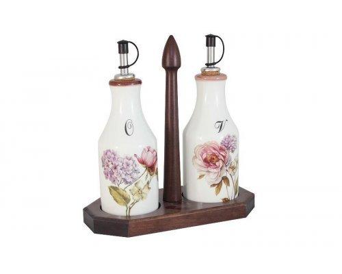 Набор из 2-х бутылок для масла и уксуса на подставке Сады Флоренции LCS