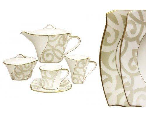 Чайный сервиз из 17 предметов на 6 персон Narumi Грегори (Gregory Gold)