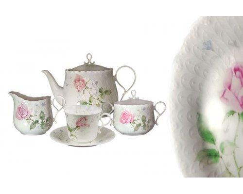 Чайный сервиз 17 предметов на 6 пресон Апрельская роза Narumi