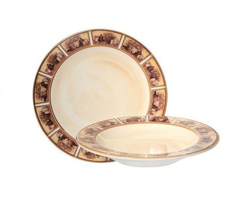 Набор тарелок:суповая и обеденная LCS Натюрморт