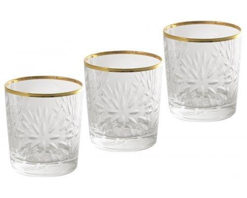 Набор: 6 хрустальных стаканов для виски Same Умбрия - золото