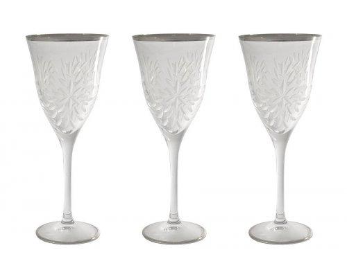 Набор: 6 хрустальных бокалов для вина Same Умбрия Матовая - платина