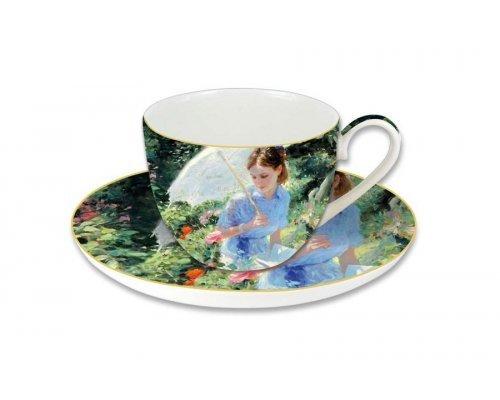 Чашка с блюдцем Carmani Летний день, в подарочной упаковке