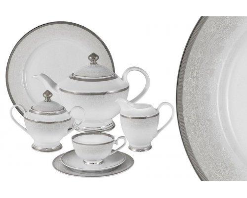 Чайный сервиз Вуаль белая Midori 42 предмета на 12 персон