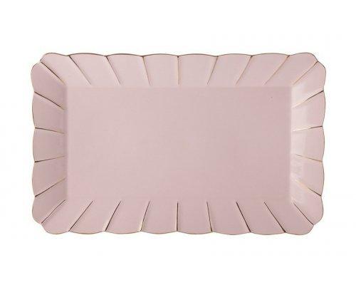 Блюдо прямоугольное (розовое) Свежее дыхание Maxwell & Williams в подарочной упаковке
