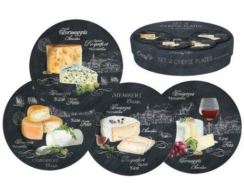 Набор из 4-х десертных тарелок Мир сыров R2S