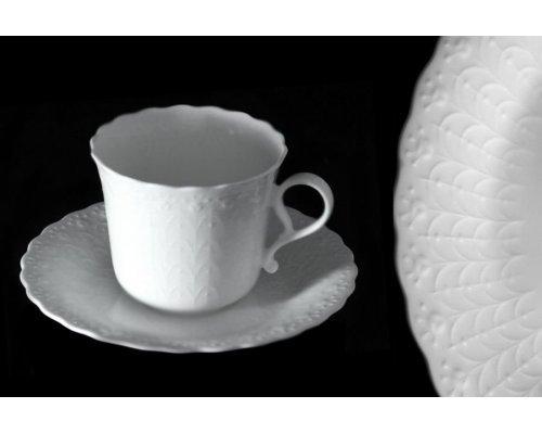 Кофейный набор: 6 чашек + 6 блюдец Шелк Narumi
