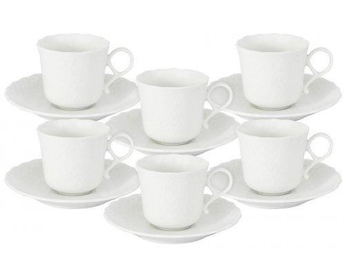 Набор: 6 чашек + 6 блюдец Шелк Narumi