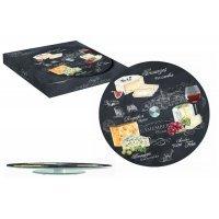 Блюдо стеклянное для сыра (вращающееся) Мир сыров R2S