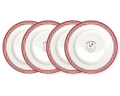 Набор из 4-х десертных тарелок Французская кухня R2S